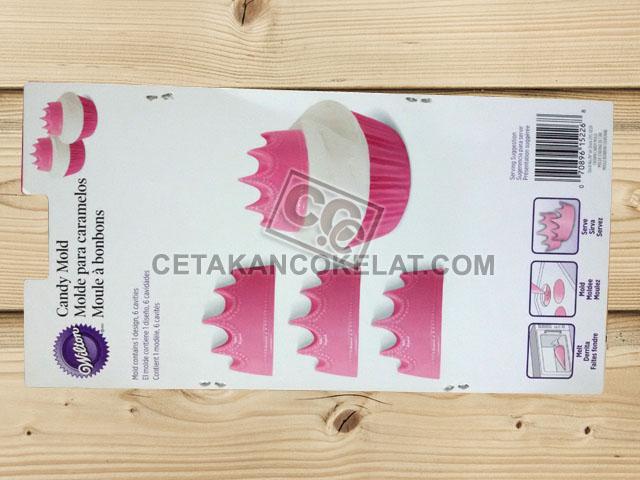 cetakan coklat cokelat silikon mahkota crown wilton 2115-0161
