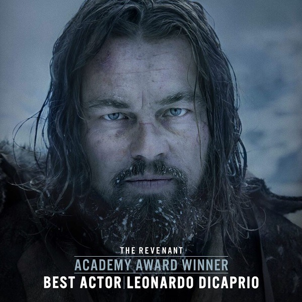leonardo dicaprio wins best actor at oscars for THE REVENANT