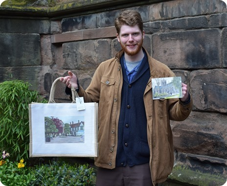 Christian Turner with a Nantwich  bag and card