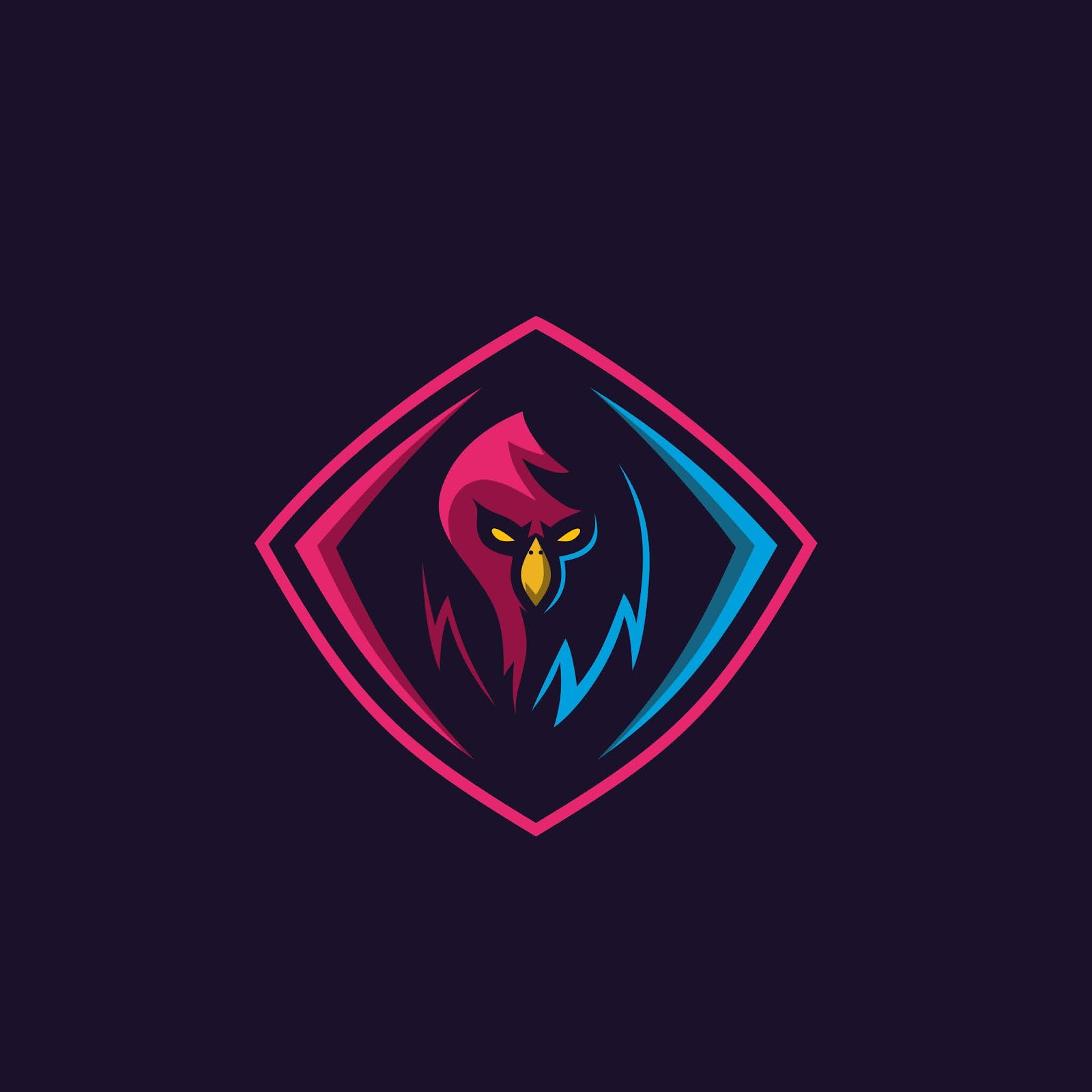 Simple Bird Logo Gaming Squad Free Download Vector CDR, AI, EPS and PNG Formats