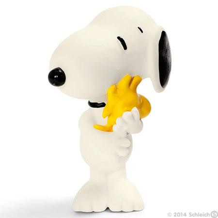 Contenido real de Schleich® 22005 Snoopy con Woodstock