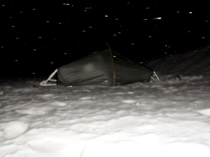 Norvège mars 2014 Tente_neige