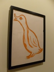 duck, drawing, framed, my mum