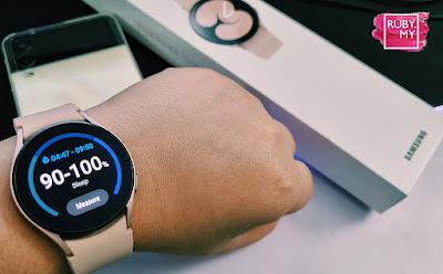 Galaxy Watch4 Bluetooth Pink Gold: Pandang Pertama