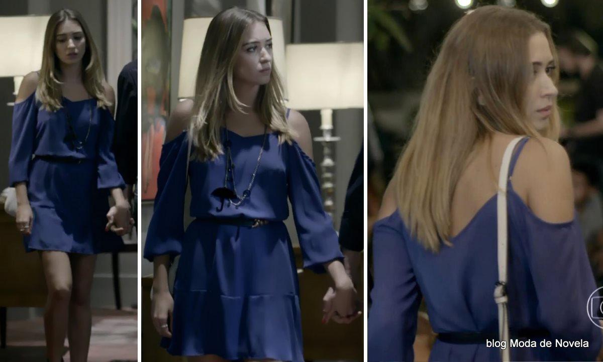 moda da novela Império - look da Bianca dia 27 de setembro