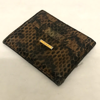 Fendi Snakeskin Card Case
