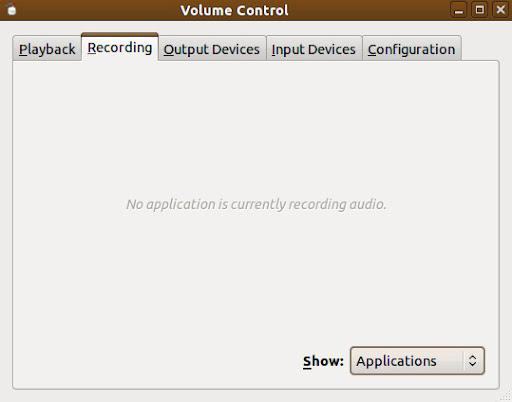 PulseAudio Volume Control (pavucontrol)