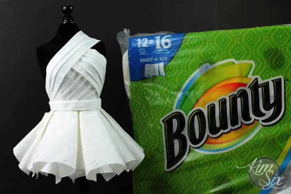Paper towel dress