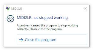 MIDI2LR 2 8 1 0 crashes on startup - Google Groups