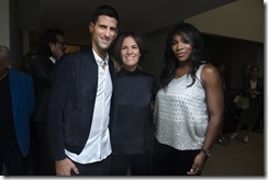 Novak Djokovic, Roberta Armani e Serena Williams