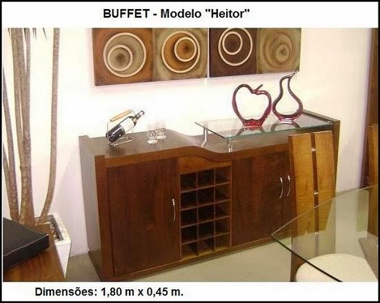 buffet de madeira luxo