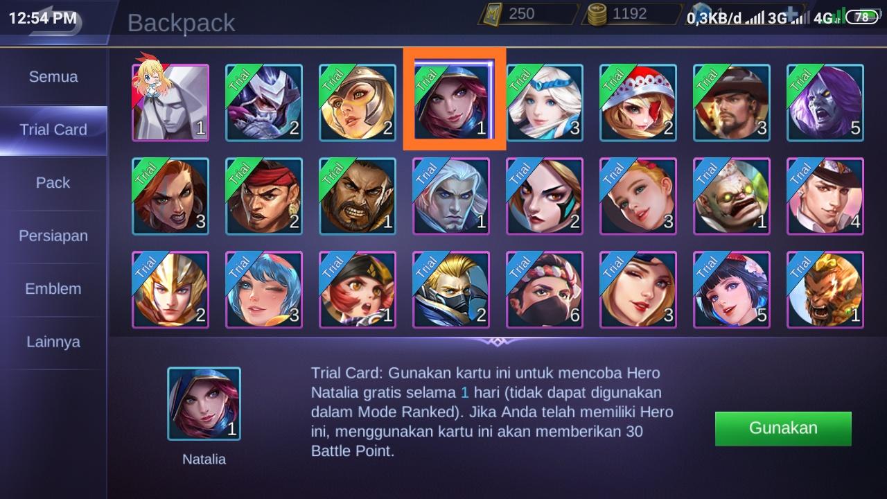 Cara Merubah Hero TRIAL Mobile Legends Jadi Hero Permanen 100% WORK !
