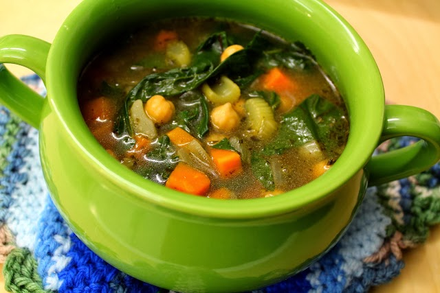 Swiss chard and garbanzo bean soup