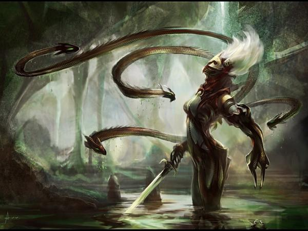In Alien Forest With Sword, Magick Warriors 5