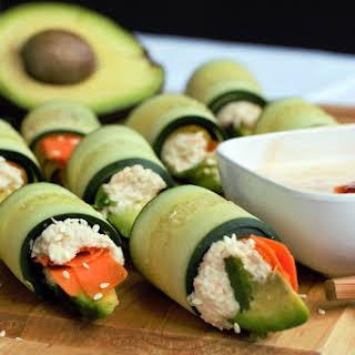 Cucumber Sushi Rollups.