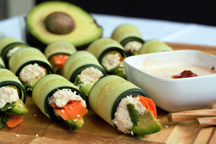 Cucumber Sushi Rollups Recipe