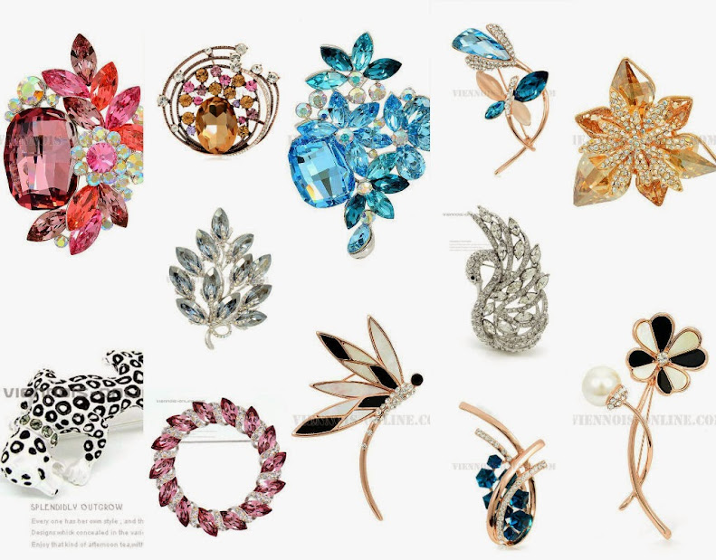 best selling fashion brooches styles from Viennois-online