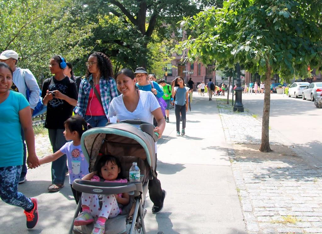 Walking along Marcus Garvey Park