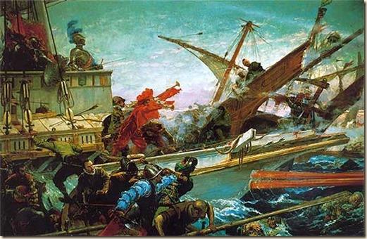 Batalla de Lepanto. Por Juan Luna Novicio 1887
