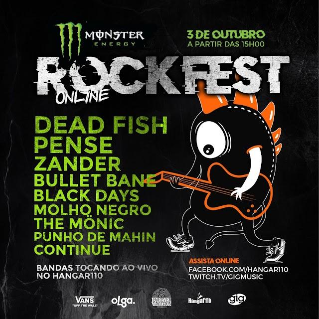 Monster RockFest, em edição online, terá nove bandas tocando ao vivo no Hangar 110