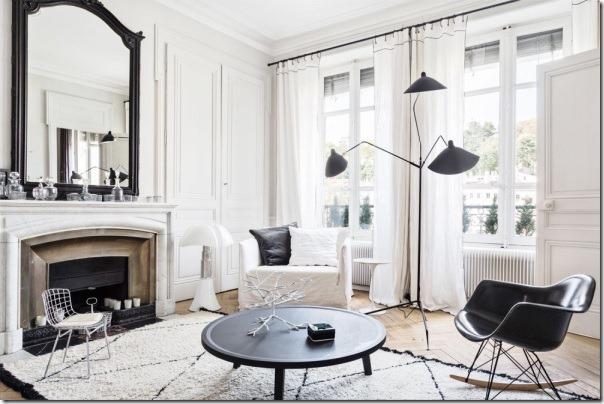 case-e-interni-bianco-nero-chic-francese-appartamento-5