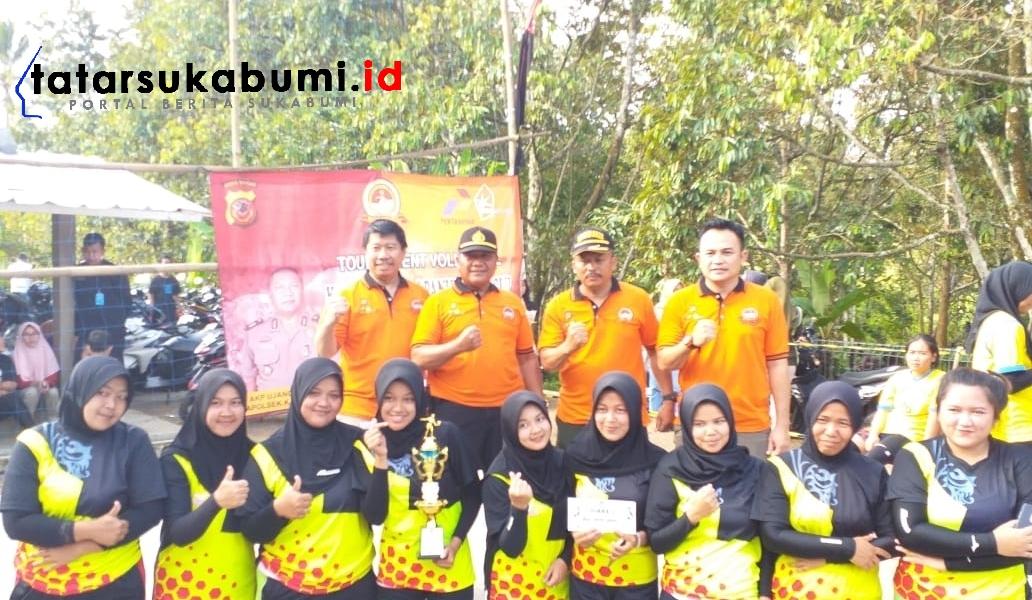 Turnamen Volly Semarakan HUT Bhayangkara Polri ke-73 Polsek Kalapanunggal