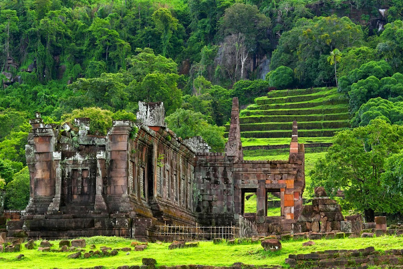 Mount Phu Kao-Vat Phou or Wat Phu Temple