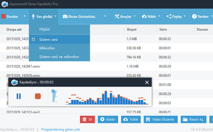 Apowersoft Screen Recorder Pro 2.4.0.12 Türkçe