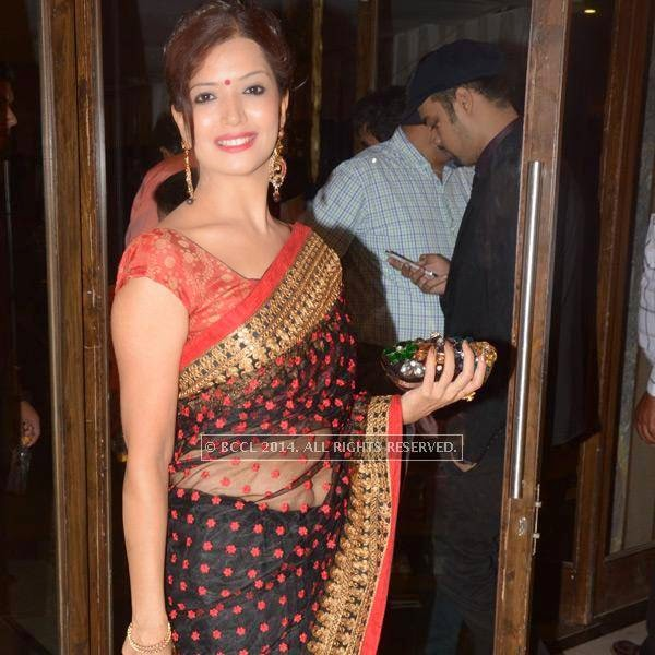 Neetu Bhojwani during Sumit-Toshi Motwani's wedding reception, held in Nagpur.