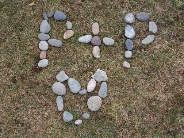 Message in stones