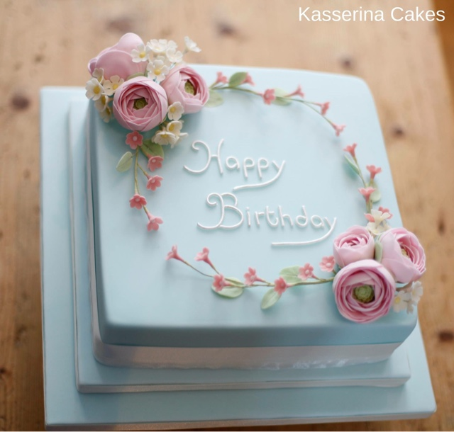 Kasserina Rananculus Birthday Cake July 2016