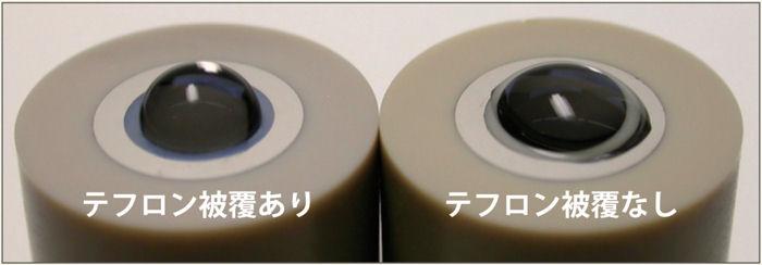 ディスク電極をテフロンで覆っていないものと覆ったものの違い