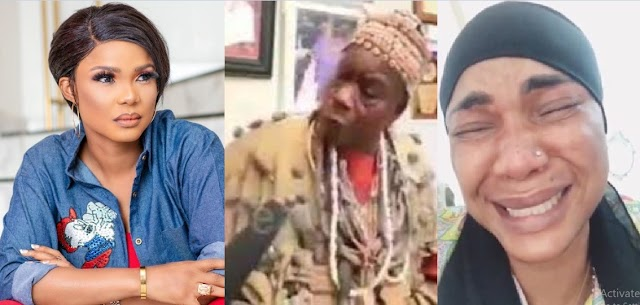 Iyabo Ojo reacts to Popular Herbalist who threatens to K!ll Her for going Against Baba Ijesha (Video)