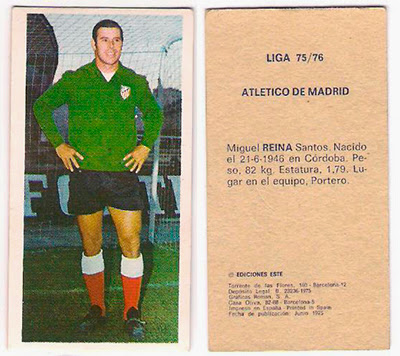 At. Madrid - Ediciones ESTE 75/76 Reina