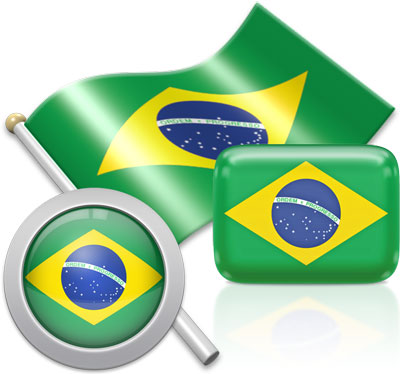 Brazilian flag icons pictures collection