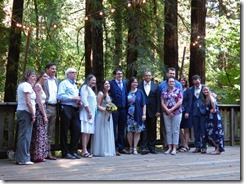 Michael's mother's side of the family -- Michael and Anna, Wedding Day, Camp Meeker California, July 21, 2018