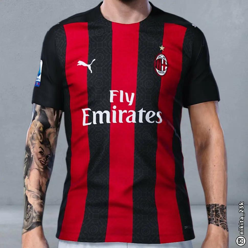 Gambar 3D Bocoran Jersey AC Milan 2020-2021 Paling Update