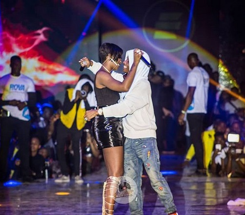 Was That A Kiss? Tiwa Savage & Wizkid Caught In A Romantic Moment At A Nightclub (Watch)