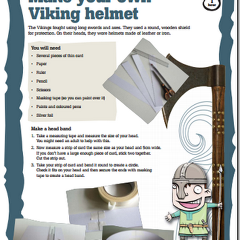 Manualidades casco de vikingo de cartulina