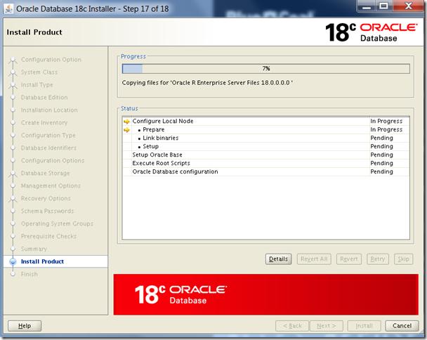 Oracle Database 18c Installation