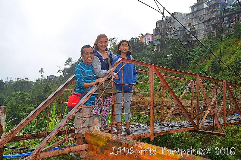 JADSpirits at Banaue Hanging Bridge before crossing it