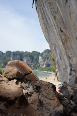 View of Ton Sai from between Ton Sai and Railay