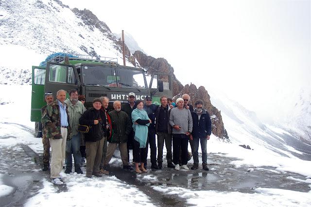 Lépidoptéristes de l'ALF, Chon Ashuu Pass, 4000 m, 9 juillet. Photo : J.-M. Gayman