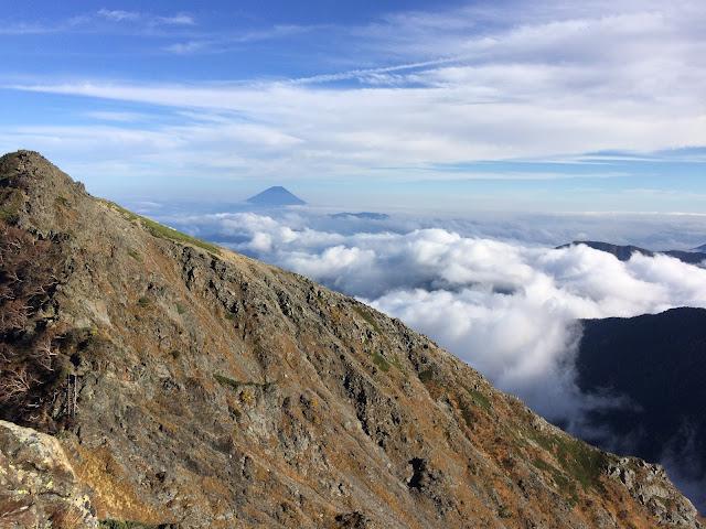 北岳からの富士 iPhone5s