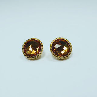 Christian Dior Orange Stone Earrings