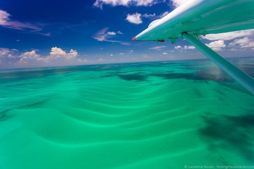 View from the wing seaplane dry tortugas