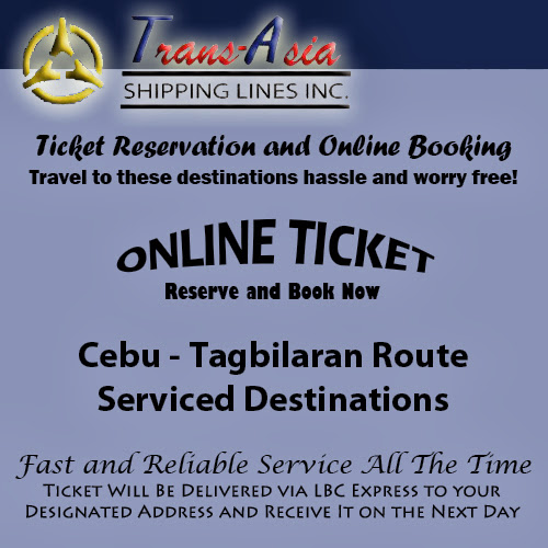 Trans-Asia Shipping Cebu-Tagbilaran Route Ticket Reservation and Online Booking