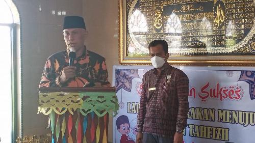 Gubernur Mahyeldi Kagumi Keberadaan Rumah Tahfidz Daarul Quran Masjid Nurul Iman