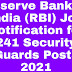 Reserve Bank of India (RBI) Job Notification for 241 Security Guards Posts 2021