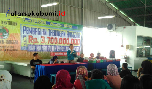 Kopkar Muara Tunggal Sukabumi Bagi-bagi Uang 3,7 Milyar Rupiah